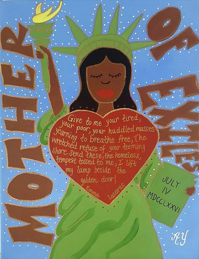 Holy Painting - Mother Of Exiles by Angela Yarber