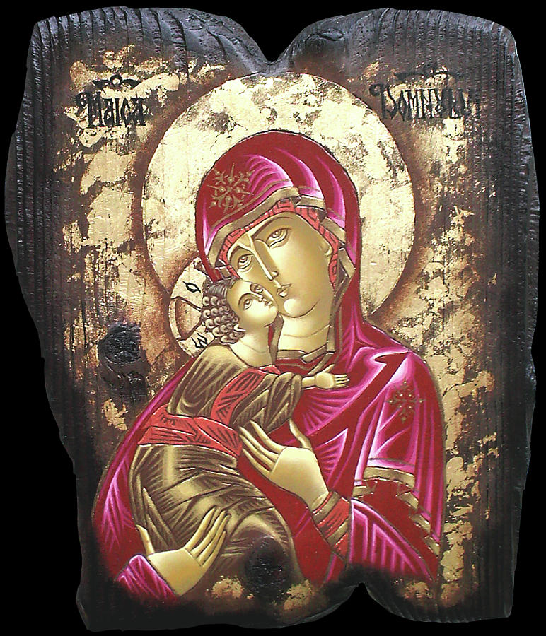 Mother Of God Painting by Iosif Ioan Chezan