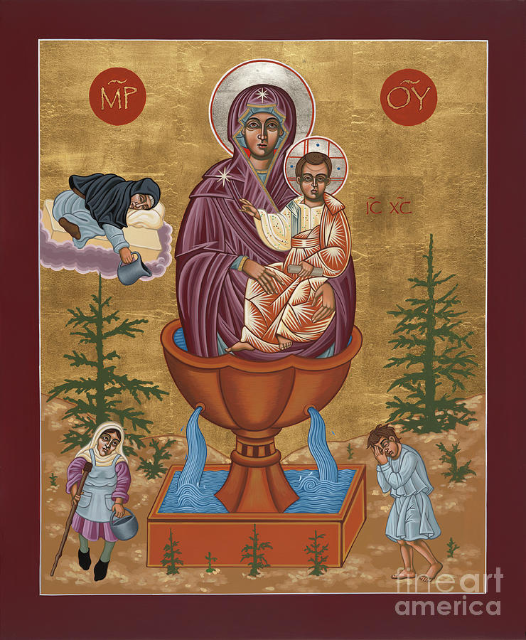 Mother of God Life Giving Spring 179 by William Hart McNichols