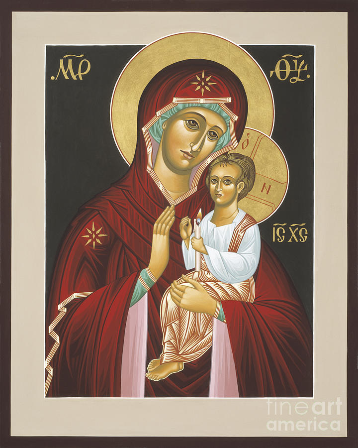 Mother of God Light In All Darkness 016 Painting by William Hart McNichols