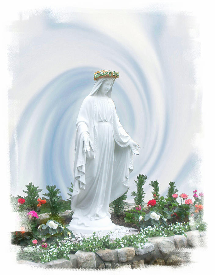 The Virgin Mary Photograph - Mother Of Peace by Rose Guay