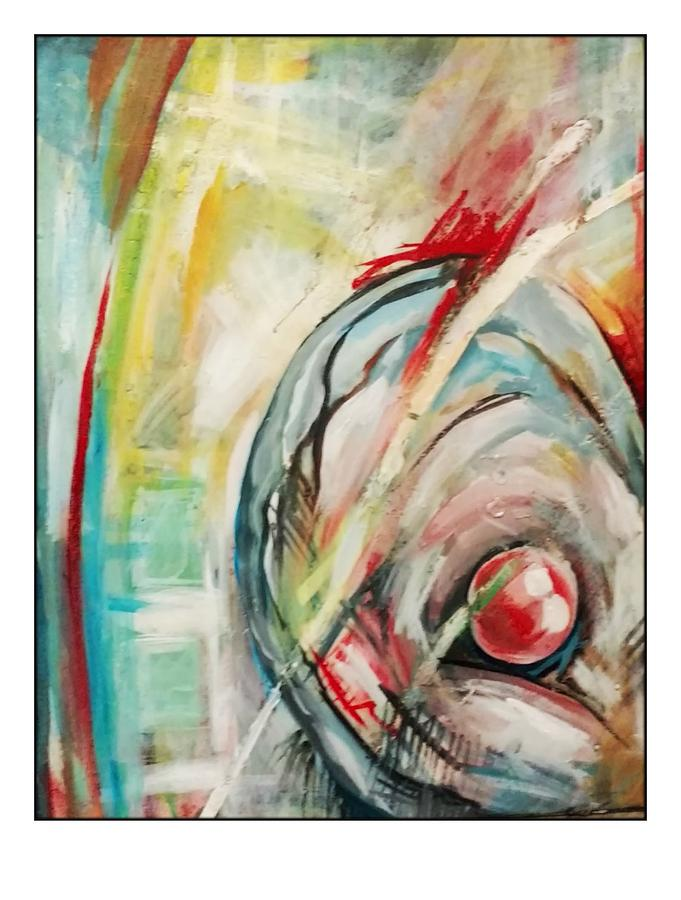 Abstract Painting - Mother Of Pearl by Kristin Lozoya