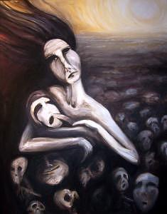 Mother Of Sin Painting by Athena Wrightson