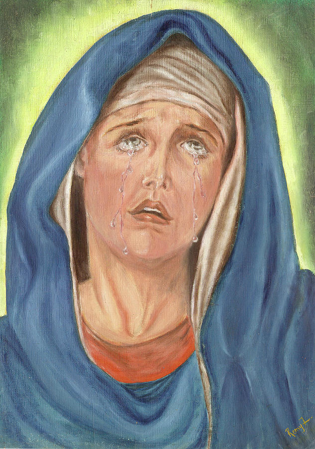 Mother Of Sorrow Painting - Mother Of Sorrow - Mater Dolorosa by Remy Francis