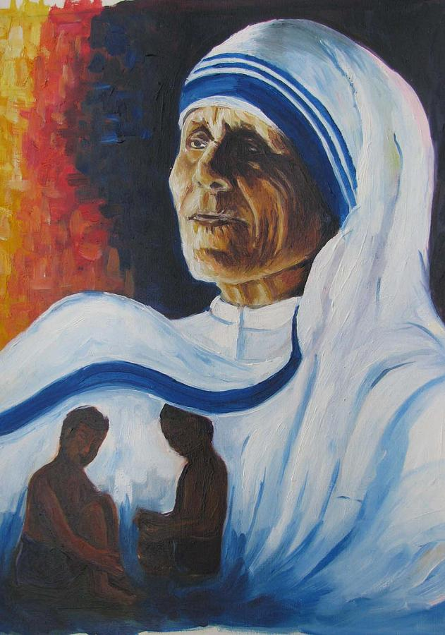 Portrait Painting - Mother by Reeta  Arora