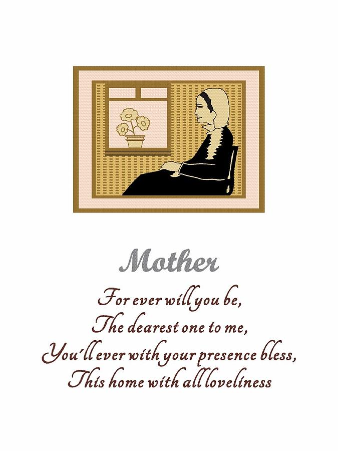 Mother's Day Digital Art - Mother by Robert Grubbs