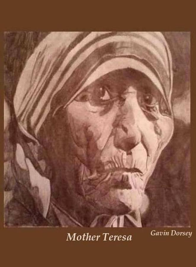 Mother Teresa Drawing - Mother Teresa  by Gavin Dorsey