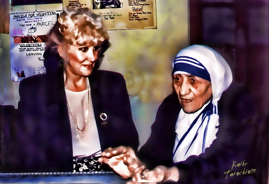 Mother Teresa Photograph - Mother Teresa In Calcutta by Kathy Tarochione