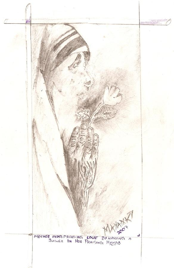 Mother Teresa  Drawing by Mayank Rajput
