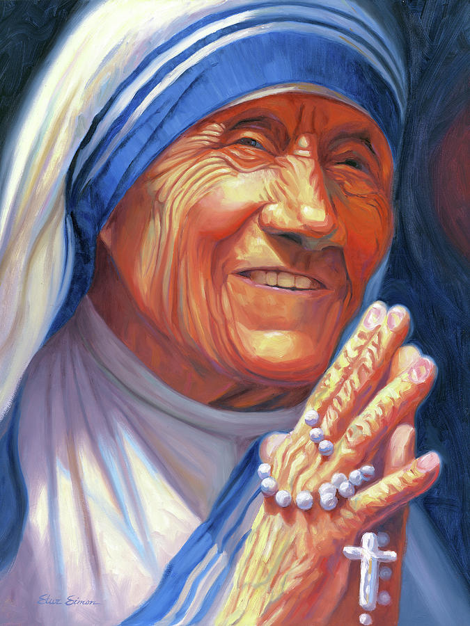 Mother Painting - Mother Teresa by Steve Simon