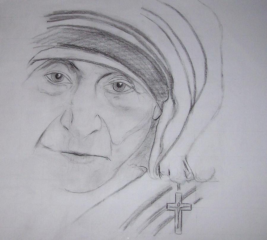 Mother theresa drawing mother theresa by valerie wolf