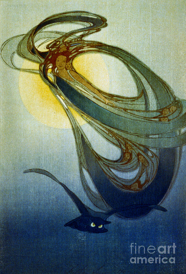 Blue Photograph - Mother West Wind 1920 by Padre Art