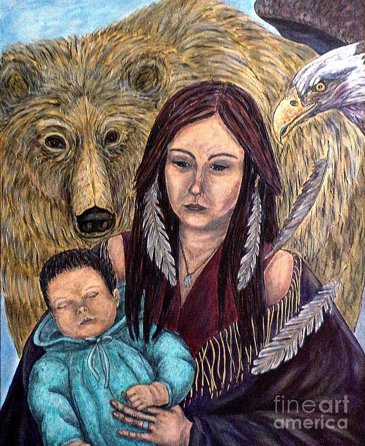 Motherhood-Guardian Spirits by Kim Jones