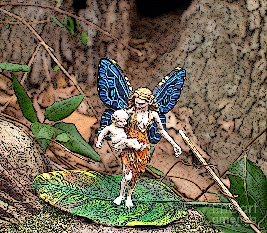 Fairy Photograph - Motherhood by Jefferson Hobbs