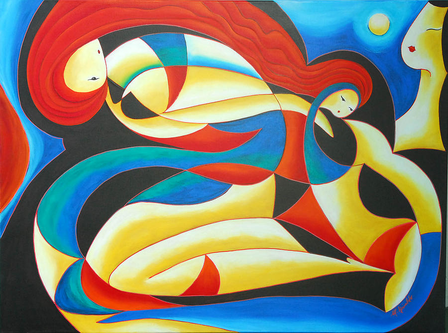 Abstract Expressionism Painting - Motherhood by Marta Giraldo