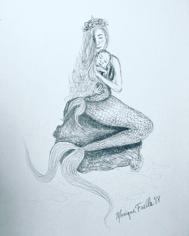 Motherhood Mermaid by Monique Faella