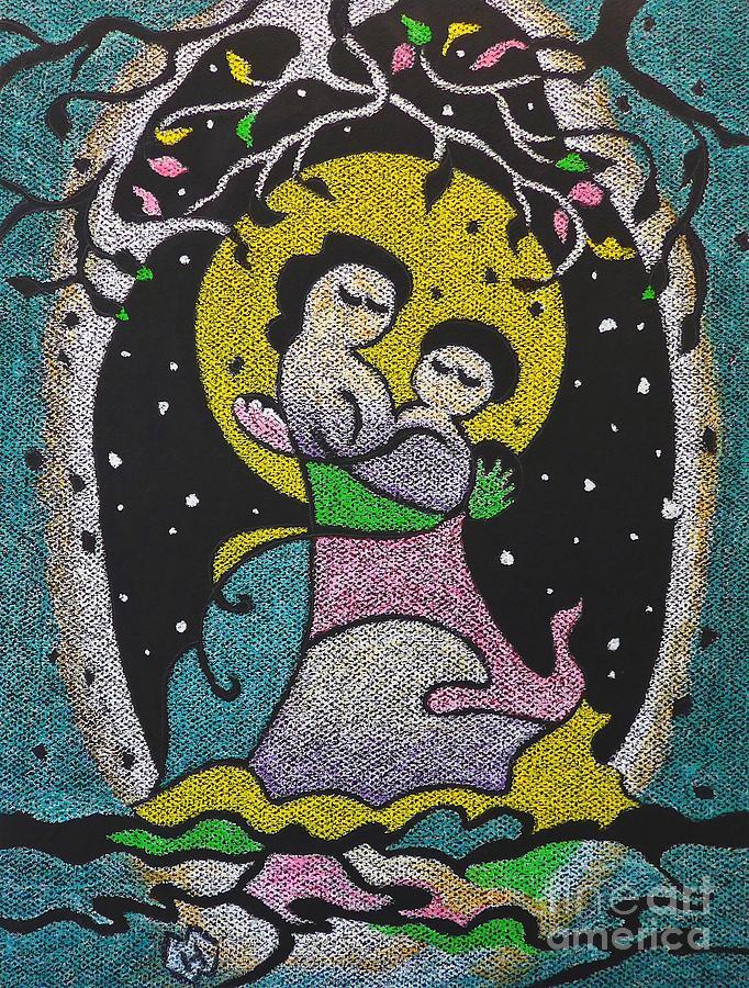 Motherhood Pastel - Motherhood No. 1 by Heather McFarlane-Watson