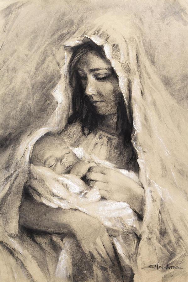 Mother Drawing - Motherhood by Steve Henderson