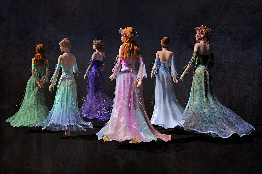 Fantasy Digital Art - Mothers And Daughters by Betsy Knapp