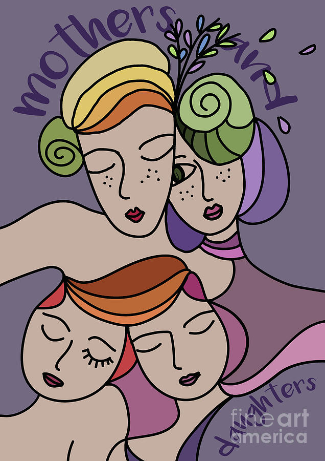 Mothers Day Digital Art - Mothers And Daughters by Greatom London