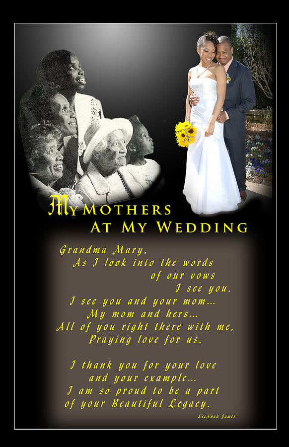 Wedding Photograph - Mothers Blessings by Richard Gordon