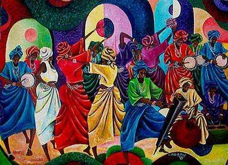 Mothers Painting - Mothers Dance by Chidi Okoye