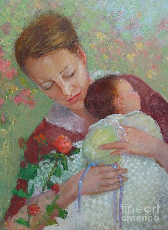 Mother And Child Painting - Mothers Day    Copyrighted by Kathleen Hoekstra