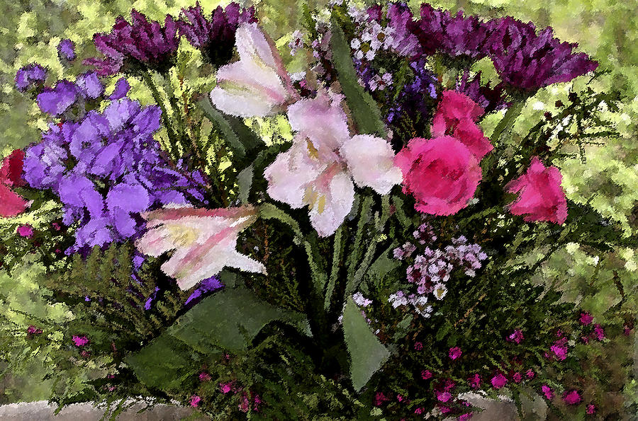Floral Arrangement Photograph - Mothers Day Bouquet by Mary Gaines
