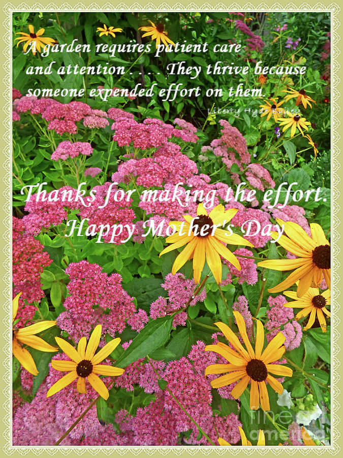Mothers Day Garden Card Photograph