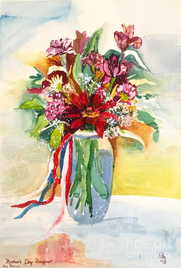 Vase Of Flowers Painting - Mothers Day by Patsy Walton
