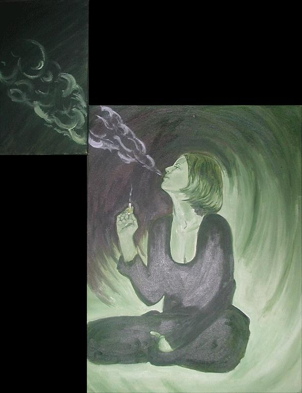 Cigarettes Painting - Mothers Milk by Aimee Johnson