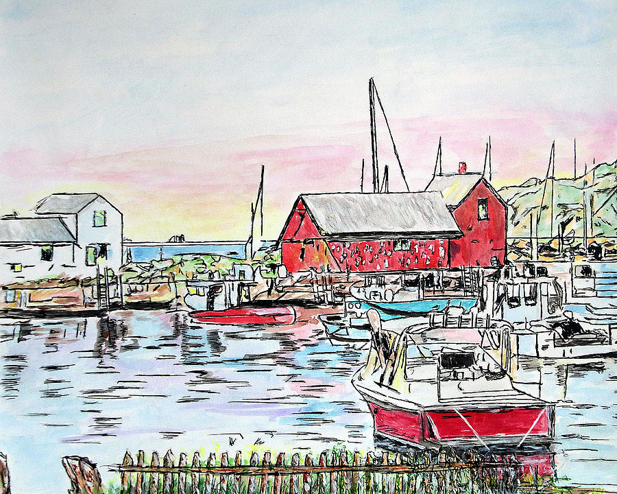 Motif #1 Rockport, Massachusetts by Michele A Loftus