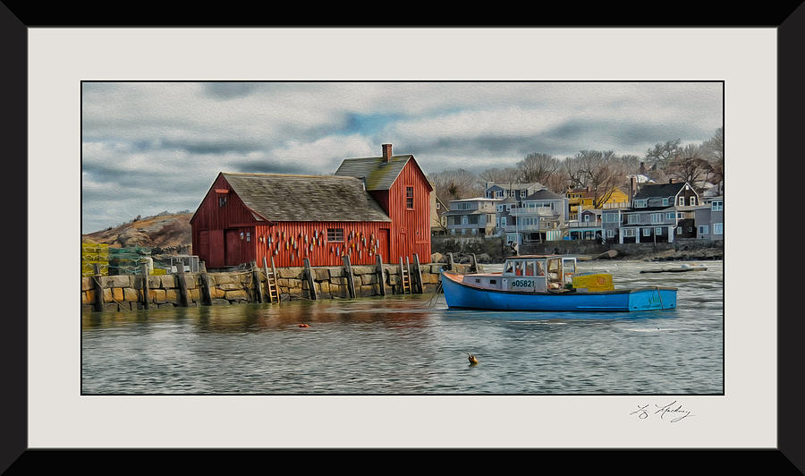 Rockport Photograph - Motif #1 Watches Over The Amie V3 by Liz Mackney