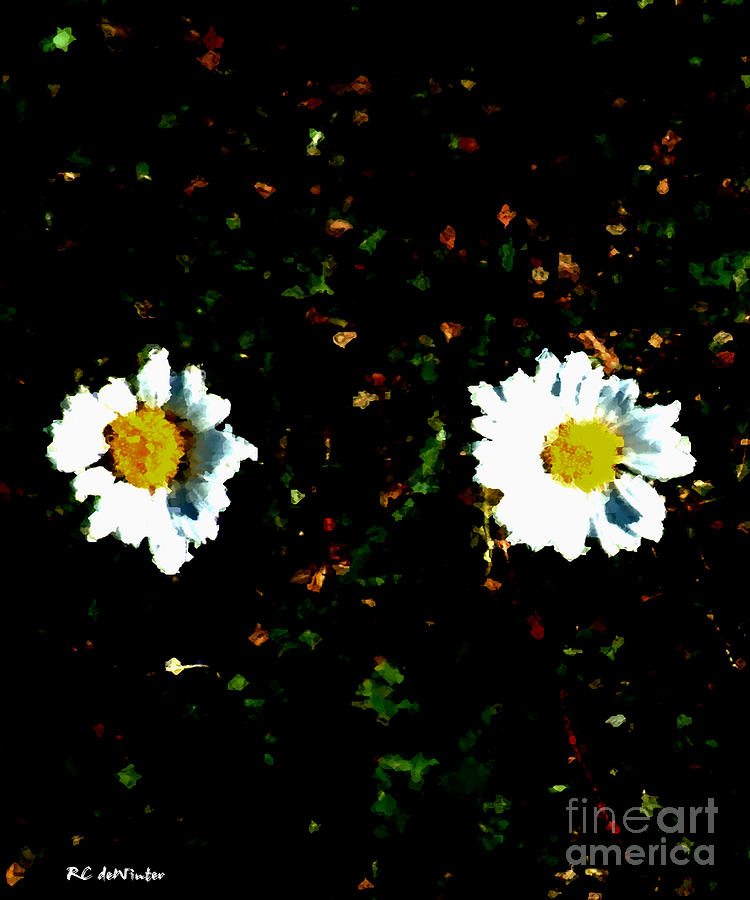 Minimalist Painting - Motif Noir No. 1 by RC DeWinter