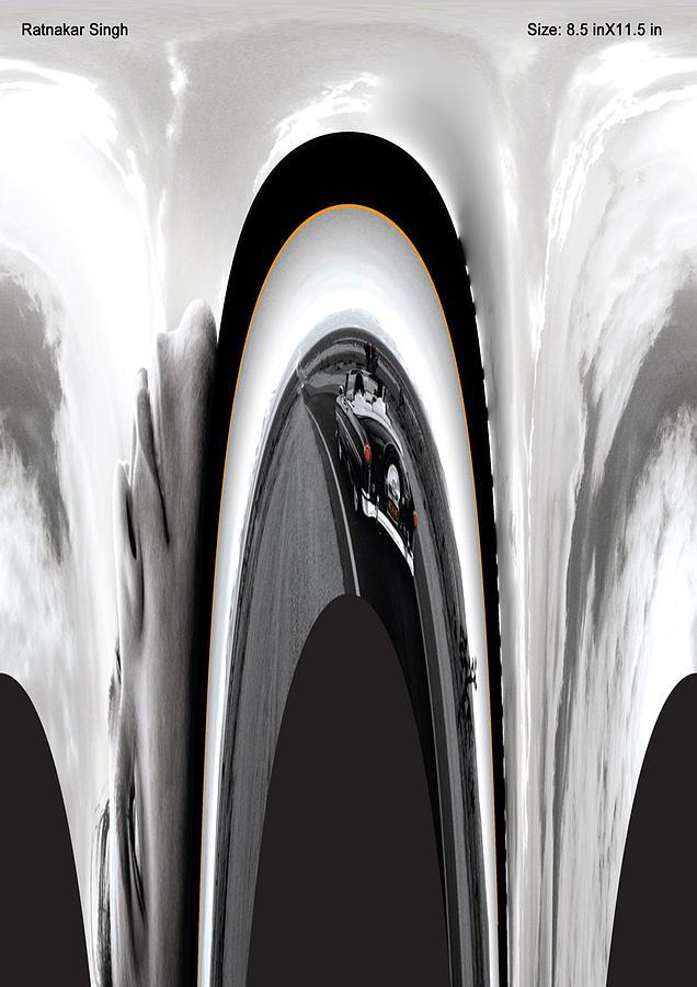 Gray Scale Digital Art - Motion by Ratnakar  Singh