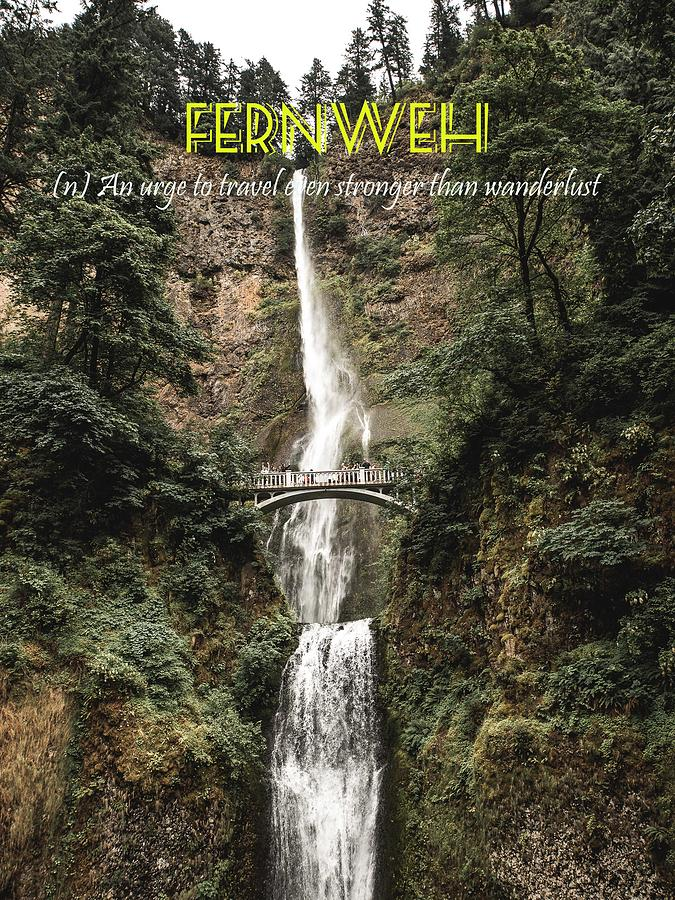 Motivational Painting - Motivational Travel Poster - Fernweh by Celestial Images