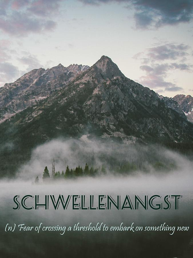 Motivational Painting - Motivational Travel Poster - Schwellenangst by Celestial Images