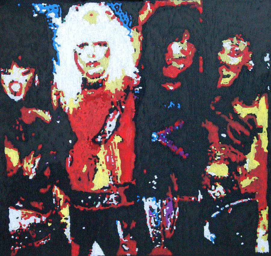 Motley Crue Painting - Motley Crue Without Sun by Grant Van Driest