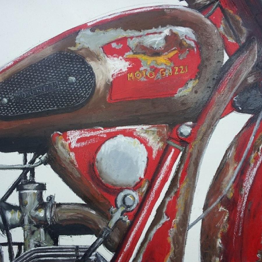 Guzzi Photograph - Moto Guzzi Art - Detail #moto #motogp by Drawspots Illustrations