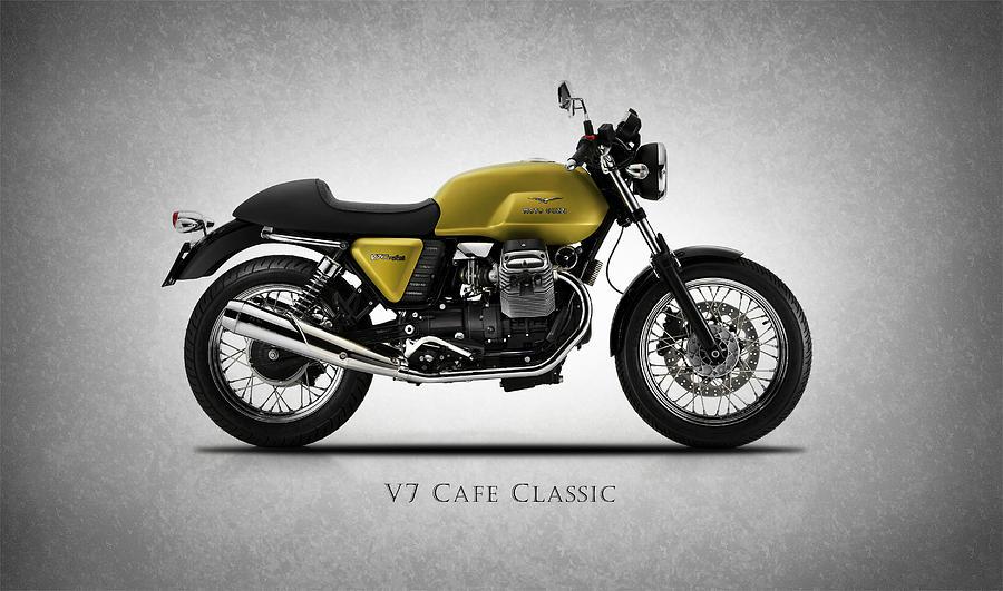 Moto Guzzi Photograph - Moto Guzzi V7 Cafe Classic by Mark Rogan