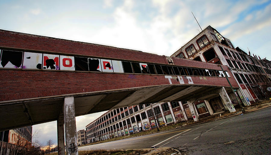 Packard Photograph - Motor City Industrial Park The Detroit Packard Plant by Gordon Dean II