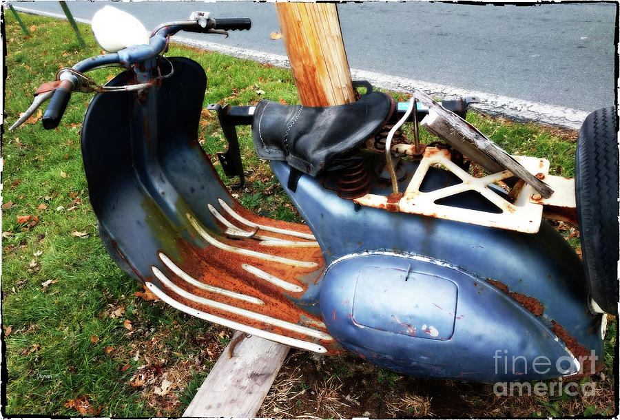 Scooter Photograph - Motor Scooter Blues  by Steven Digman
