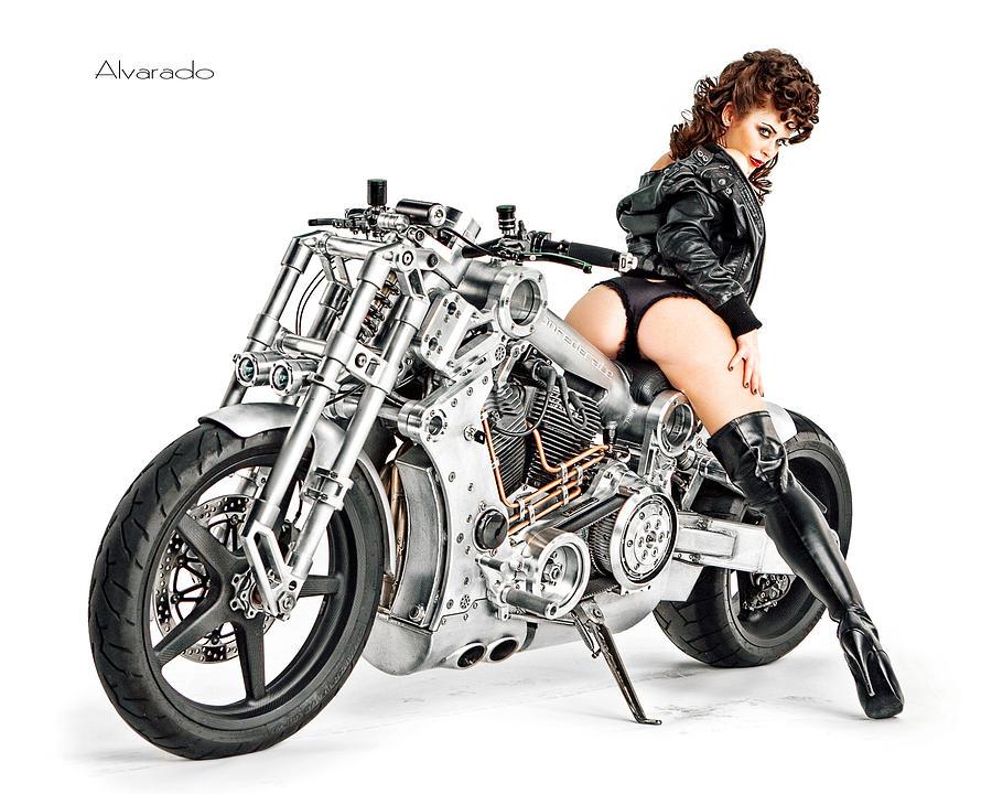 motorcycle mama pics  Motorcycle Mama Photograph by Robert Alvarado