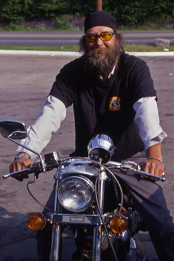 Nashville Photograph - Motorcycle Minister by Randy Muir