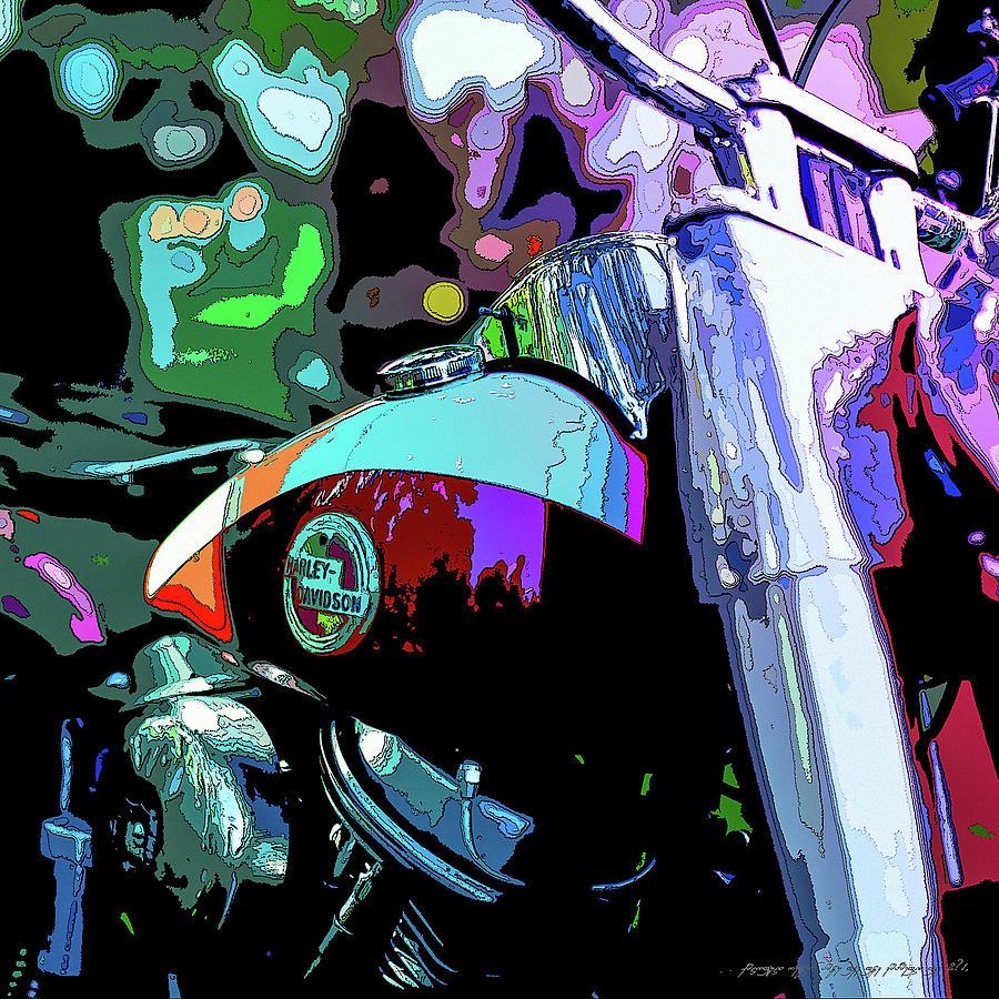 Sweden Digital Art - Motorcycle Poster IIi by Mikael Jenei