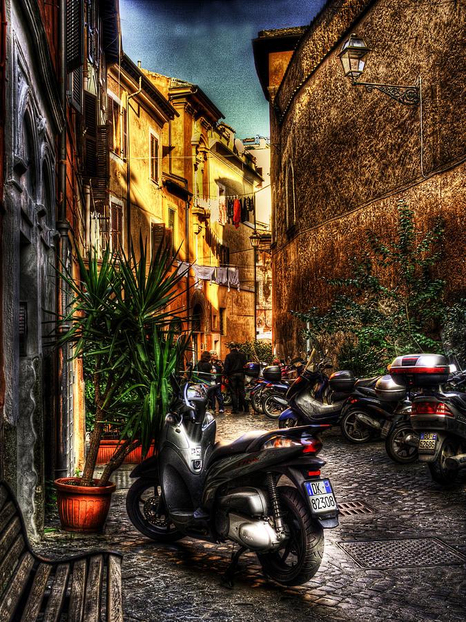 Rome Photograph - Motorino 1 by Brian Thomson