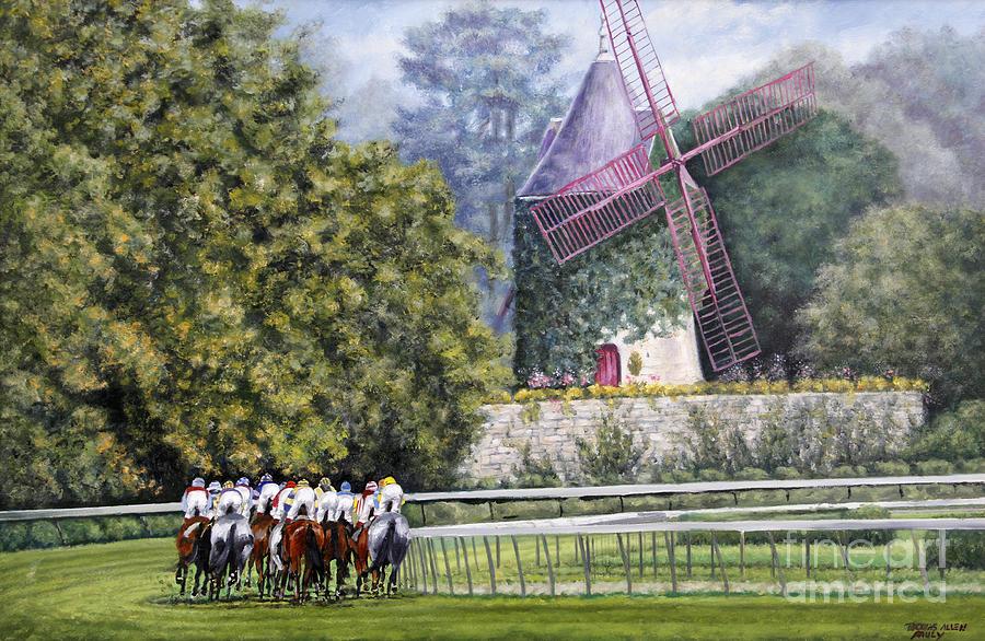 Longchamp Paintings Painting - Moulin De Longchamp by Thomas Allen Pauly