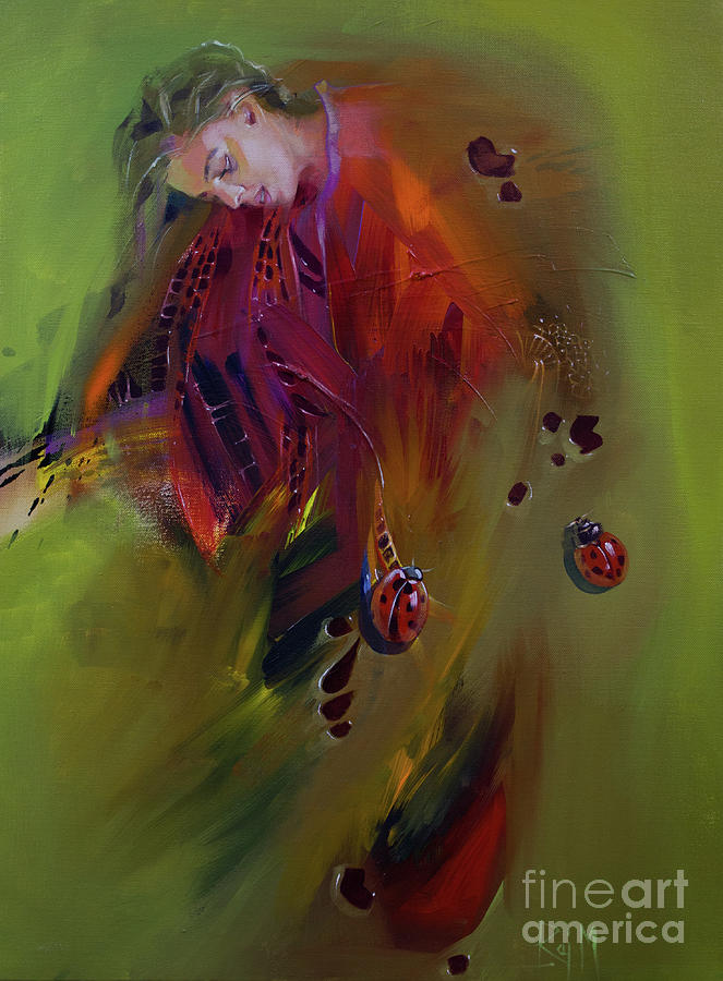 Organic Painting - Moulting Expression 3 by Raj Maji