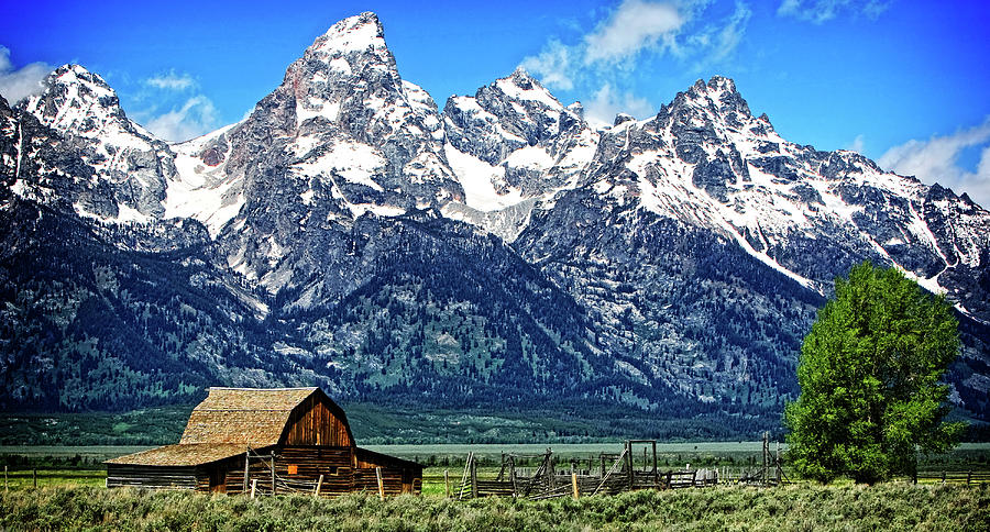 Moulton Barn at Mormon Row inside Grand Teton National Park by Lincoln Rogers