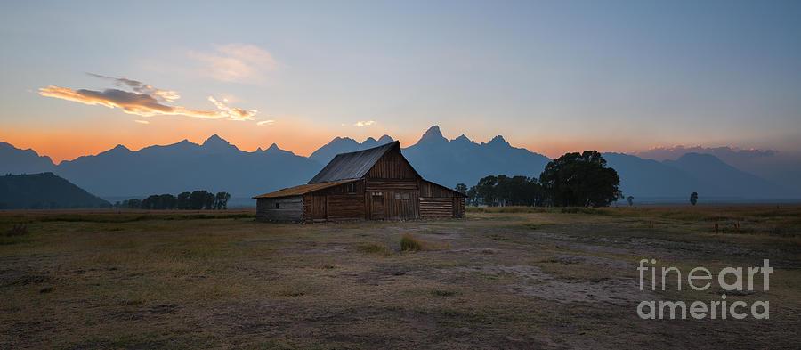 Moulton Ranch Sunset On Mormon Row Photograph
